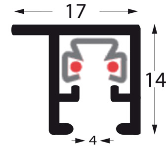 Profil u-multi deckenschiene