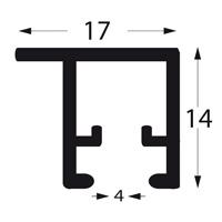 stas u rail pro deckenschiene f r schattenfuge. Black Bedroom Furniture Sets. Home Design Ideas